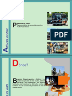Análisis de caso paradero de buses