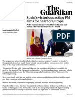 Spain's victorious acting PM aims for heart of Europe | World news | The Guardian