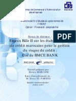 Enjeux Bâle II Sur Les Établissements de Crédit Marocains Pour La Gestion Du Risque de Crédit Cas d