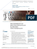 Procedimiento en Segunda Instancia en El Proceso Civil Venezolano « Derechovenezolano.com