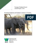 tarangire elephant project annual report 2018