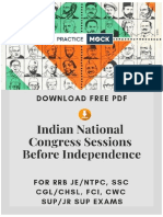Indian National Congress Sessions Before Independence