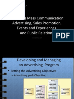Managing Mass Communication Advertising Sales Promotion Events and Experiences and Public Relations