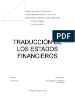 Teoria Financiera- Traduccion de Estados Financieros