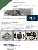 Texturas de Rocas Igneas PDF