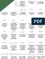 Cartas Algebraicas