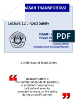 Lecture 12 - Transportation Fundamentals - Road Safety