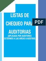 Listas de Chequeo Auditorías 5S