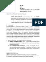 Jorge Reyes Zapata Falsificacion de Documentos y Otros