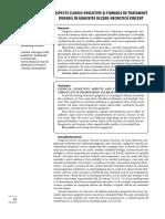 Aspecte Clinico Evolutive Si Formule de Tratament Durabil in Gingicita Ulcero Necrotica Vincent