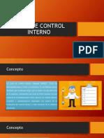 Carta de Control Interno