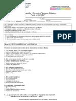 PRUEBA CIENCIAS 3° 2016 Luz y Sonido en edición