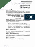 PROYECTO DE LEY QUE MODIFICA EL ARTÍCULO 6 DE LA LEY Nº 28687 A EFECTOS DE POSIBILITAR LA FORMALIZACIÓN DE MERCADOS PÚBLICOS DE PROPIEDAD INFORMAL