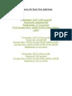 Licencia De Eset Not Antiviru1.docx