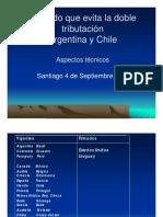 Acuerdo Que Evita La Doble Tributación Argentina y Chile. Aspectos Técnicos