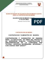 Bases Madera Segunda Convocatoria