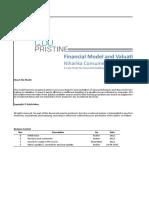 Financial model excel file