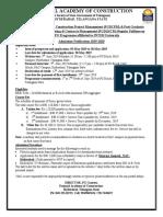 Nac Post Graduate Diploma Admission 2019 20 Advt Details Application Form 1a1693