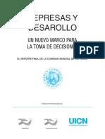 Informe Comision Mundial de Represas 2000