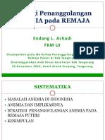 ANEMIA Pada REMAJA_pres EA 30Nov16_Tangerang
