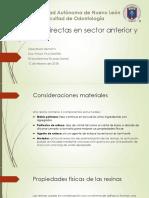 Resinas Directas en Sector Anterior y Posterior