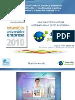 Desarrollo Profesional - UCA - Encuentro Universidad Empresa 2010