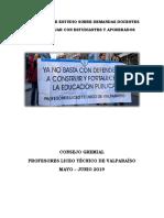 Documento de Estudio Sobre Demandas Docentes LTV 2019