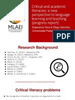 Presentation Investigacion-modelo Literacidad Critica y Academica