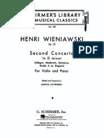 Wieniawski Violin Concerto No.2, Op.22 LMC951