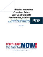 July 2010 Report From Health Care Reform Now
