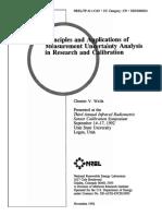 Principle & Applications of Measurement Uncertainty Analysis