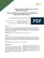 Articulo Análisis de La Normatividad Marítima Colombiana Para El Sector de Hidrocarburos (Offshore)(1)