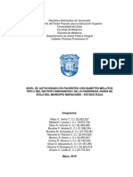 NIVEL DE AUTOCUIDADO EN PACIENTES CON DIABETES MELLITUS TIPO 2 DEL SECTOR CANCHANCHA I DE LA PARROQUIA JUANA DE ÁVILA DEL MUNICIPIO MARACAIBO - ESTADO ZULIA