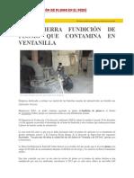 Contaminación de Plomo en El Perú