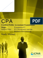 CPA F2.2 - ECONOMICS & THE BUSINESS ENVIRONMENT - Study Manual.pdf