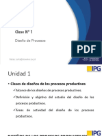 Clase Nº 1 diseño de procesos