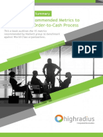 15 Hackett Recommended Metrics to Benchmark Your O2C Processes