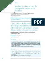 58-62 Caso Clinico - Relaciones Sexuales Riesgo Adolescente
