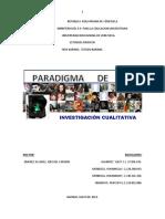 Paradigma De investigacion Cualitativa