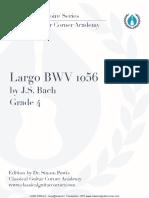 Largo BWV 1056