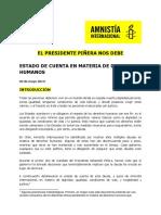 Informe Amnistía Internacional