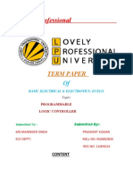 term paper on programmable logic controler