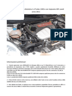 Manuale Tagliando Giulietta 1.4 Turbo