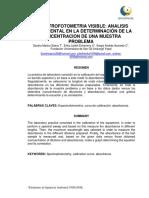 Informe 5. Determinación de La Concentración de Una Muestra Problema