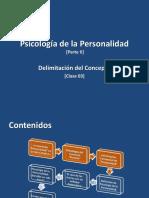 Clase 01 - Psicología de La Personalidad