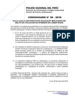 COMUNICADO PNP N° 26 - 2019
