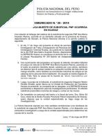 COMUNICADO PNP N° 28 - 2019