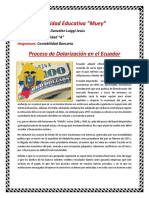 Resumen Del Feriado bancario en Ecuador