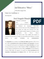 Biografia de Jose Juaquin de Olmedo