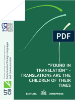 """FOUND IN TRANSLATION"" – TRANSLATIONS ARE THE CHILDREN OF THEIR TIMES"